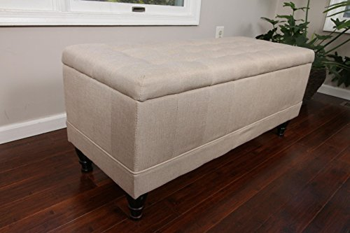 home-life-lift-top-storage-bench-with-tufted-accents-light-beige-linen-fabric-with-wooden-legs