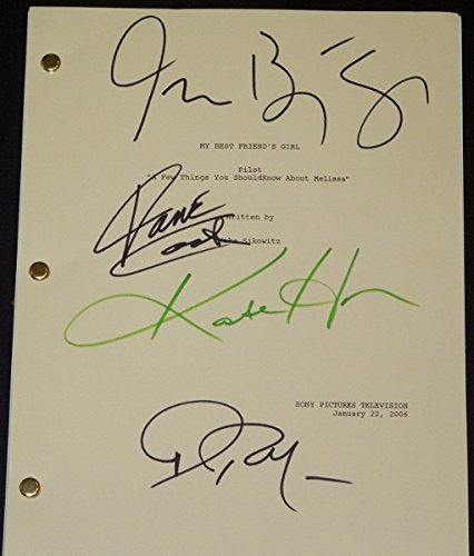 My Best Friend's Girl Autographed - Hand Signed Script by Kate Hudson, Jason Biggs, Dane Cook, and Alec Baldwin (Dane Cook Autograph compare prices)