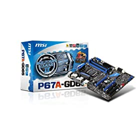 MSI P67A-GD65 (B3) Intel P67 ATX DDR3 1333 Motherboards