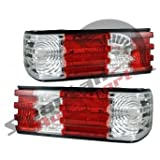 1986 1987 1988 1989 1990 1991 MERCEDES BENZ S CLASS W126 TAIL LIGHT RED/CLEAR LENS