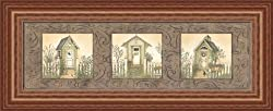 Outhouse Row by Linda Spivey Country Bath 21x9 in Art Print Framed Picture