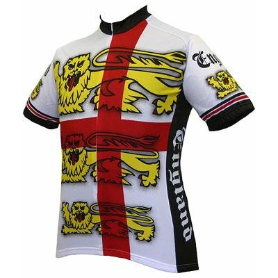 Buy Low Price World Jersey's Men's England Short Sleeve Cycling Jersey (B001GDT8VM)