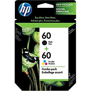 HP 60 Black/Tri-color Combo Pack Ink Cartridges