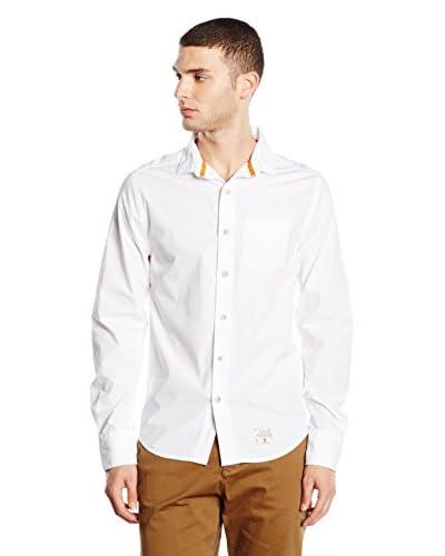 SUPERDRY Camisa Hombre Blanco Óptico