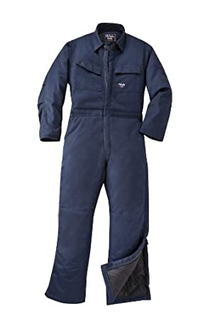 Walls Mens Zero Zone Premium Weight Insulated Coveralls Navy 5X Tall
