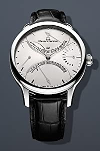 Maurice Lacroix Masterpiece Double Retrograde 43mm Watch - Silver Dial, Black Crocodile Strap MP6518-SS001-130