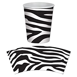 Zebra Print Beverage Cups Party Accessory (8 count) by The Beistle Company