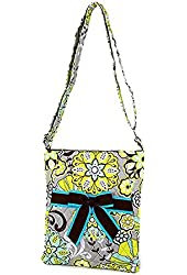 Belvah Quilted Paisley & Floral Hipster Crossbody Handbag