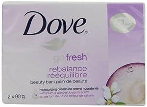 Dove beauty bar, go fresh Rebalance 2 Count 90g
