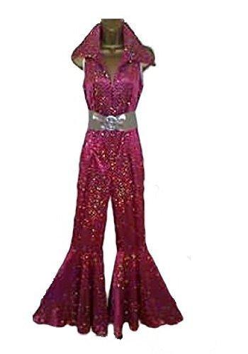 Abba Sequin Fancy Dress Jumpsuit & Belt for 70s 80s Retro Disco Fever Size M