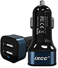 iXCC® Dual USB 4.8 Amp (24 Watt) SMART Universal High Capacity [High Power] [Small Size] FAST Car charger with Exclusive ChargeWise (tm) Technology, for Apple iPhone 6/ 6 plus/ 5s/ 5c/ 5; iPad Air 2/ iPad Air; iPad mini 3/ iPad mini 2/ iPad mini; Samsung Galaxy S6 / S6 Edge / S5 / S4; Note Edge / Note 4 /Note 3 /Note 2; the new HTC One M8/ M9; Google Nexus and More [Navy]