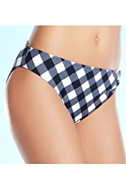 Low Rise Check Hipster Bikini Bottoms [T52-1329P-S]