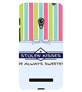 PrintVisa Love Quotes Design 3D Hard Polycarbonate Designer Back Case Cover for Asus Zenfone 5