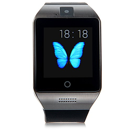Padgene Bluetooth NFC Smart Watch with IPS Touch Screen Watch Phone for Samsung S5 / S6 / S6 Edge / Note 4, HTC, Sony, Lg, Moto, Huawei and other Android Smartphones, Black
