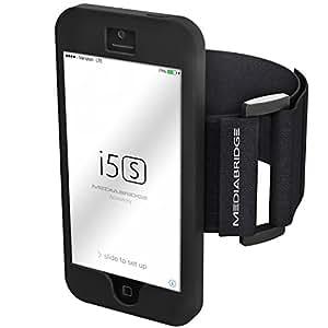 Armband for iPhone 5 / iPhone 5S (Black) - Model AB1 by Mediabridge (Part# AB1-I5-BLK )