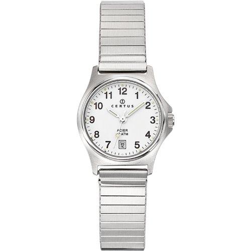 Certus 625020-Ladies Watch-Analogue Quartz-White Dial-Silver Metal Strap