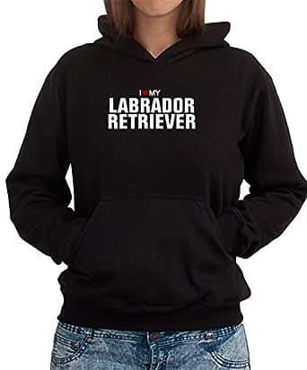 Amazon.com: I love my Labrador Retriever Women Hoodie: Clothing