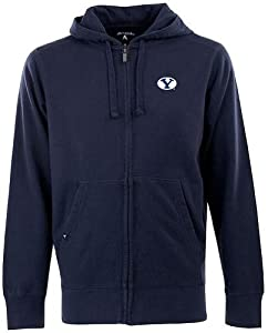Brigham Young Signature Full Zip Hooded Sweatshirt (Team Color) by Antigua
