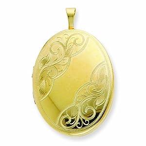 1/20 Gold Filled 26mm Swirled Oval Locket