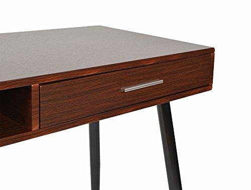ts ideen design holz schreibtisch computer arbeitstisch tisch mdf holzoptik 110 x 76 cm com. Black Bedroom Furniture Sets. Home Design Ideas