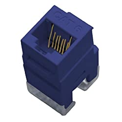 OnQ Legrand WP3460BE Cat 6 RJ45 Keystone Connector Blue