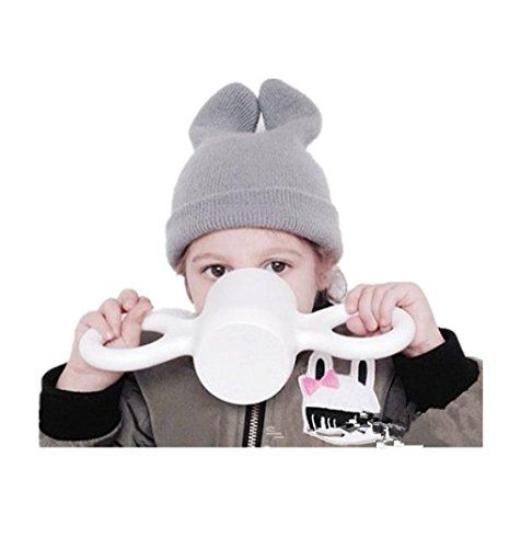 Big Ear Cup Health Unbreak Insulation Candy Color Milk Cup Water Cup Tea Cup By MagicMen (white)