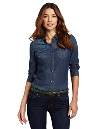 Denim Dress on Amazon Com  Calvin Klein Jeans Women S Fitted Denim Shirt  Clothing