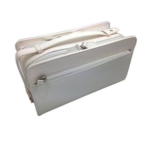 [フィレンツェ] FIRENZE 本馬革 ダブルファスナー式 セカンドバッグ 072147 ホワイト