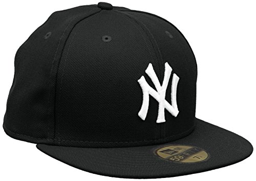Cappello New Era 59Fifty New York Nero Taglia 6-7/8 54,9 Cm