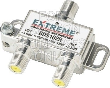 Extreme 2 Way HD Digital 1Ghz High Performance Coax Cable Splitter BDS102H