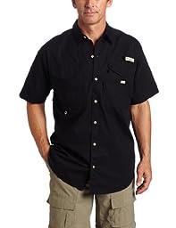 Columbia Men\'s Bonehead Short Sleeve Shirt, Black, L