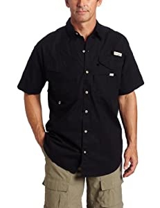 Columbia Men's Bonehead Short Sleeve Fishing Shirt (Black, Medium)