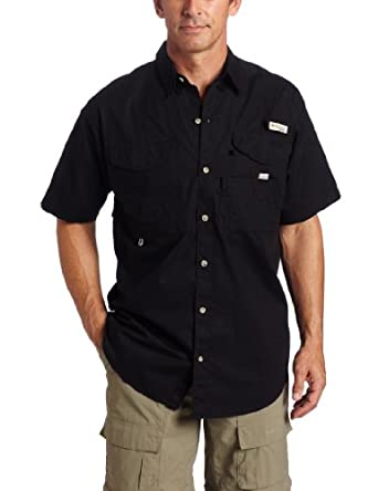 Columbia Men's Bonehead Short Sleeve Shirt, Black, X-Small