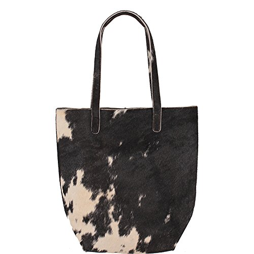 Latico Leathers Graham Tote (Black/White) (Chanel Vintage Purse compare prices)