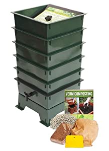 Worm Factory DS5GT 5-Tray Worm Composter, Green
