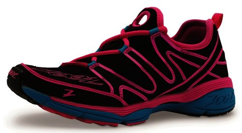 Zoot Women's Ultra Kalani 3.0 Running Shoe,Black/Pink Glow/Atomic Blue,9 M US