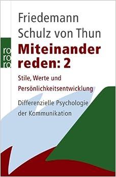 Miteinander reden 2 stile werte und for Nc werte psychologie