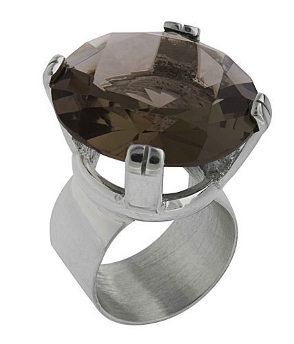 Round Crystal Ring From the Crystal Collection Designed By Mauricio Serrano For Basic Jewelry