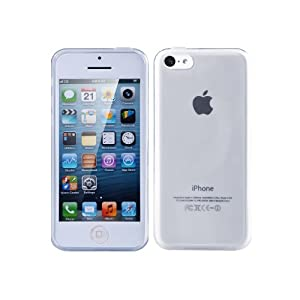 TeckNet® Apple iPhone 5C Slim Soft Gel Cover Case for Apple New iPhone 5 C With Screen Protectors-Clear