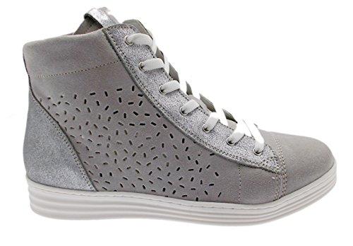art C3689 lacci sneacker grigio perla ortopedica cerniera sneaker scarpa donna 41 grigio