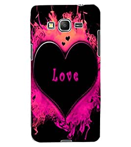 ColourCraft Love Heart Design Back Case Cover for SAMSUNG GALAXY GRAND PRIME DUOS TV G530BT
