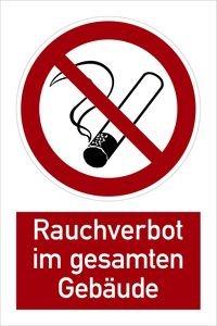 1184 kombischild rauchverbot im gesamten geb ude alu kombi symbol p01 rauchen verboten. Black Bedroom Furniture Sets. Home Design Ideas