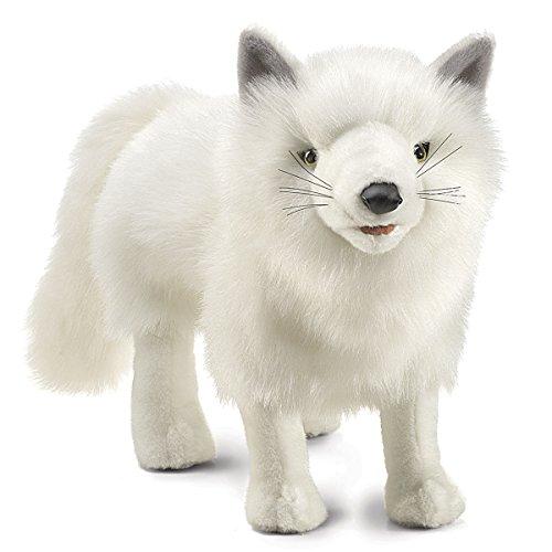 Folkmanis la marioneta de mano del Fox ártico
