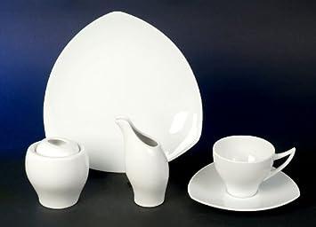 diana weiss kaffee service 20 teilig neu design porzellan geschirr set 6 personen us77. Black Bedroom Furniture Sets. Home Design Ideas