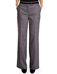 Per Una Roma Wide Leg Tweed Trousers with Wool