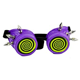 Purple Hypno X-ray Goggles Cosplay Welder Glasses