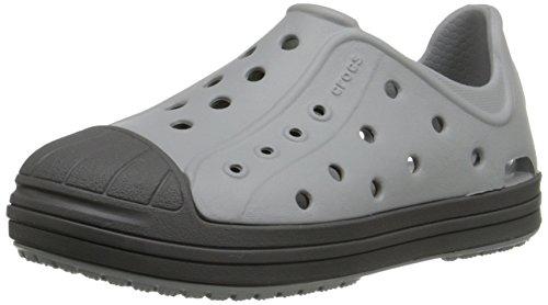 crocs Bump It Shoe Slip-On Shoe (Toddler/Little Kid), Light Grey/Graphite, 2 M US Little Kid