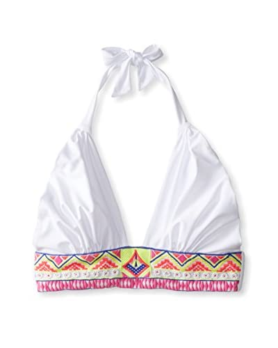 6 Shore Road Women's Embroidered Cabana Swim Top
