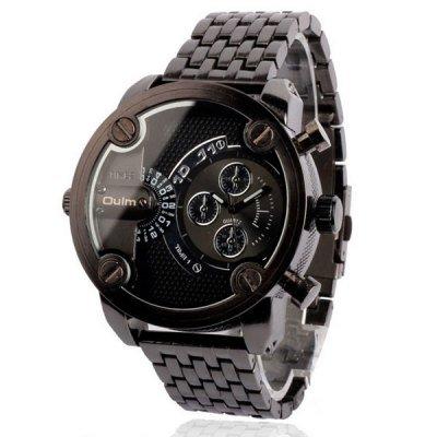 3101 Black Mechanical Roller Screw Ornament Retro Classic Oversized Nalog Field Watches Dalian Strap