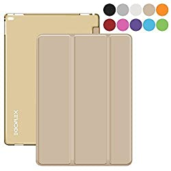 iPad Pro Case - Gold, EGOFLEX Tri-Fold Series Lightweight Stand Cover Case with Auto Wake / Sleep for Apple iPad Pro (2015 edition) 12.9 inch iOS Tablet